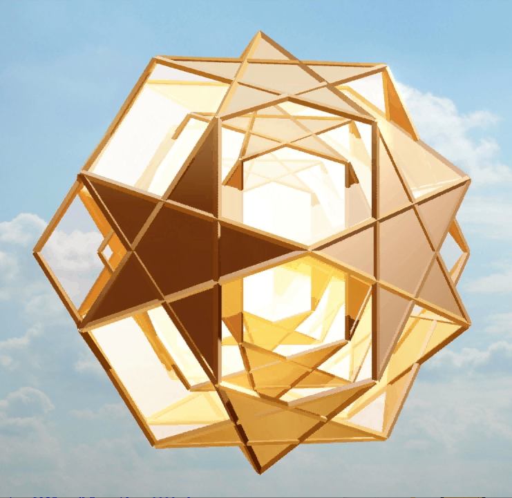 golden Dodecadodecahedra - frame from animation