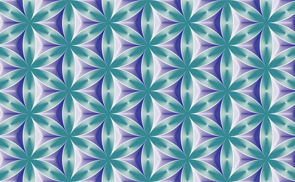 Video Patterns: Flower of Life and Rectangulars