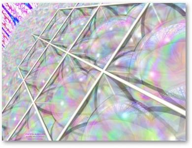 Star Tetra Bubble Grid Print