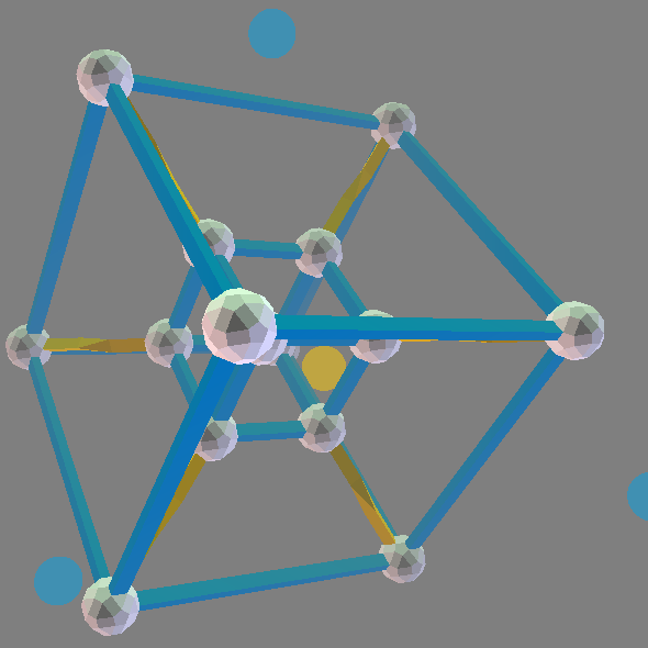 ZomePad Hypercube (Tesseract) model