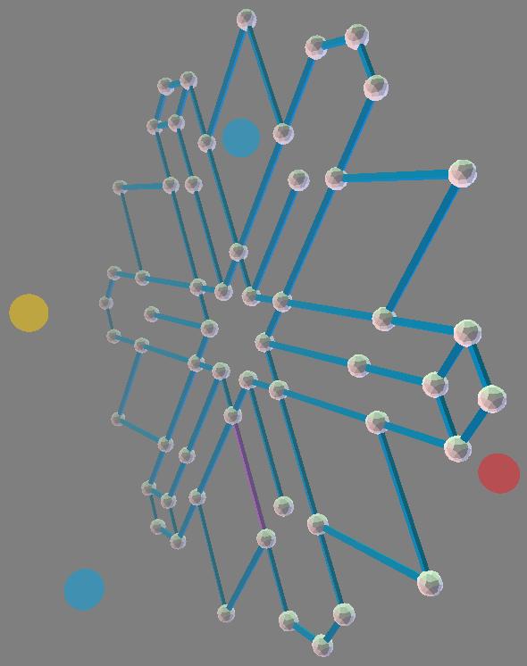 ZomePad 2D hexagonal crystal