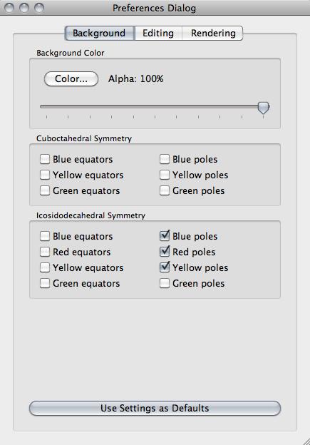 ZomePad settings