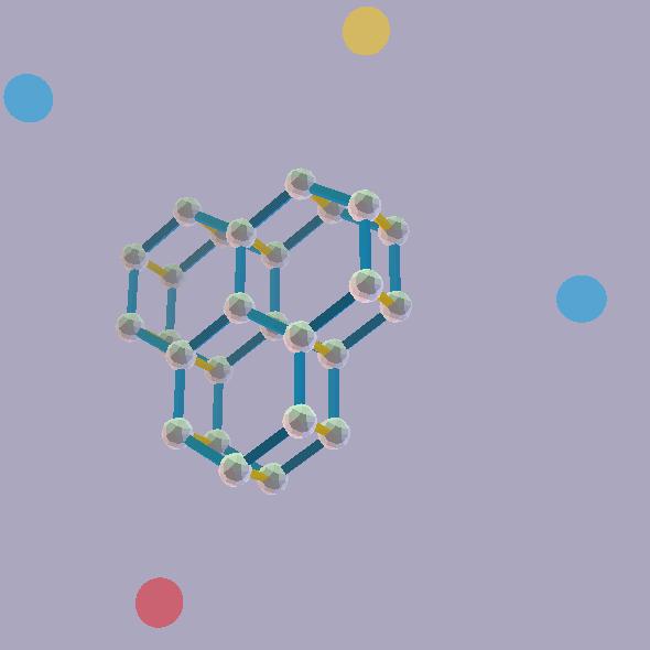 ZomePad 3D Hexagonal (honey comb) grid model