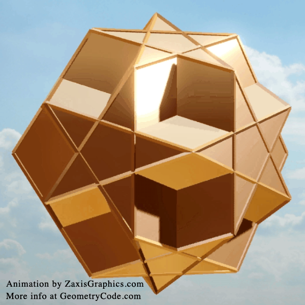 Dodecadodecahedra Animation - still frame from video