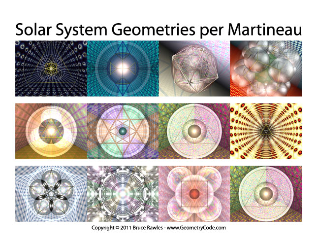 Solar System Geometries per Martineau - calendar cover