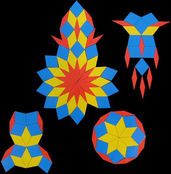 Fractiles - examples showing four geometric designs