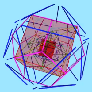 Nesting Platonic Solid Recursion video