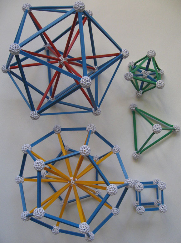 Platonic Solids made with Zometool