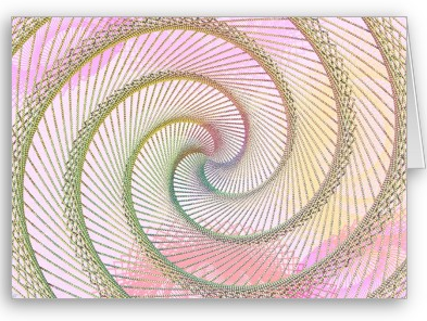 Spiral Beads card: sacred geometry art featured on zazzle.com