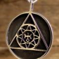 Ka-Gold Jewelry: Uranus Saturn Jupiter orbits (pendant)