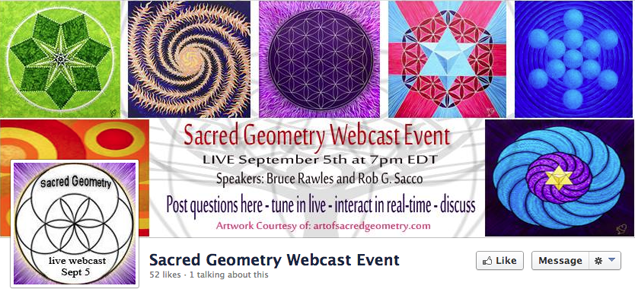 Sacred Geometry Webcast Event with Rob G. Sacco, Chris Russak and Bruce Rawles -5Sep2013