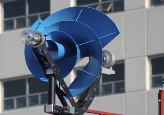 Archimedes spiral wind generator