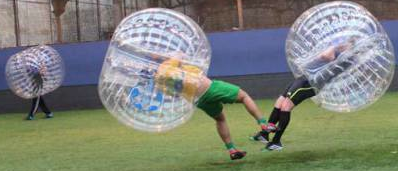 Bubble Soccer - toroids and truncated tetrahedra
