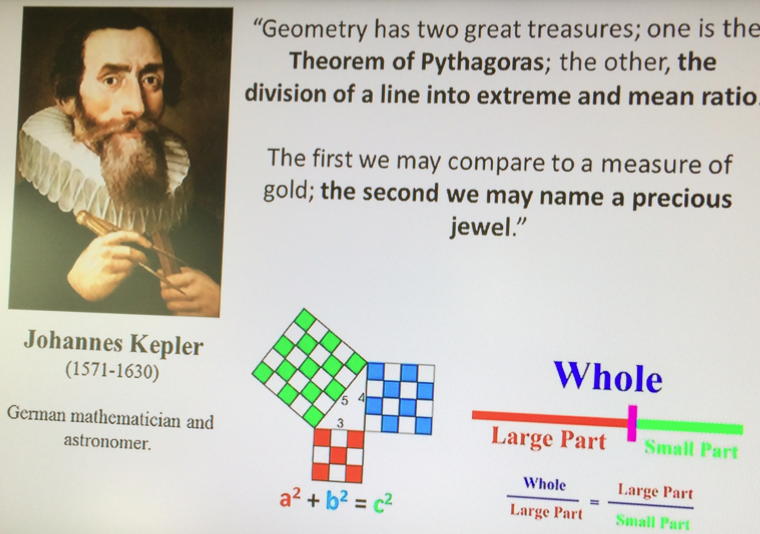 Kepler-quote-FibonacciGarden-MichaelSchneider
