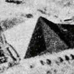Aerial photography shadows reveal 8-sided geometry of the Great Pyramid at Giza, Egypt