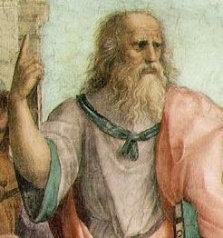 Plato (portion of painting by Raphael)