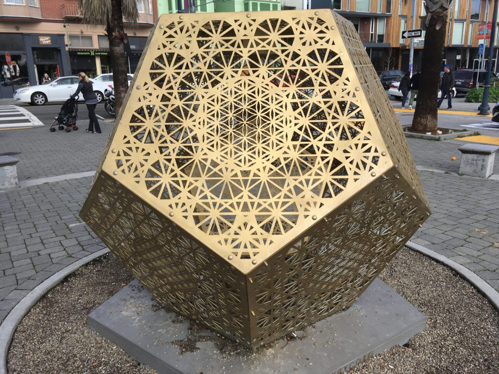 big metal lantern - dodecahedron - photo by Asha Deliverance