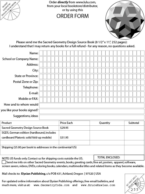 Sacred Geometry Design Sourcebook - Printable Order Form gif